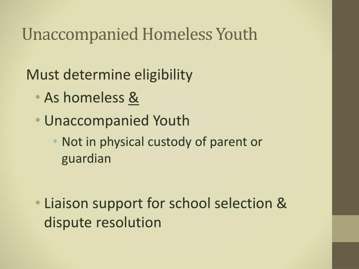 Unaccompanied Homeless Youth