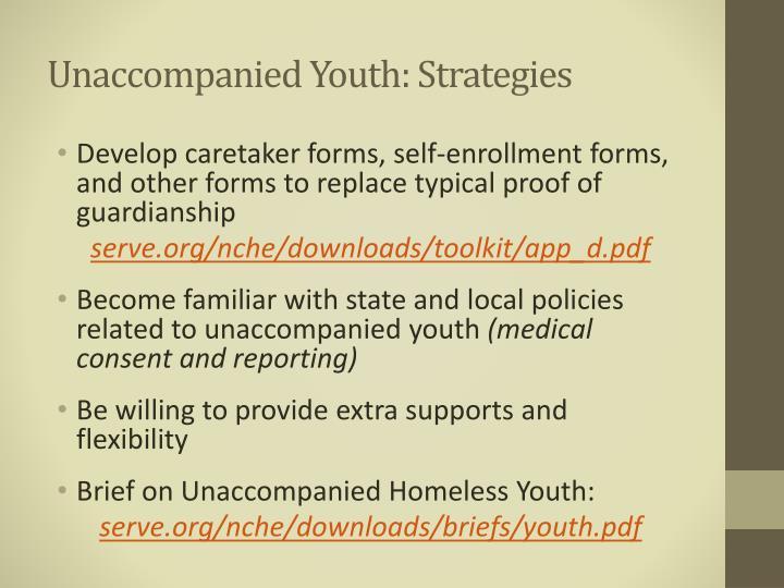 Unaccompanied Youth