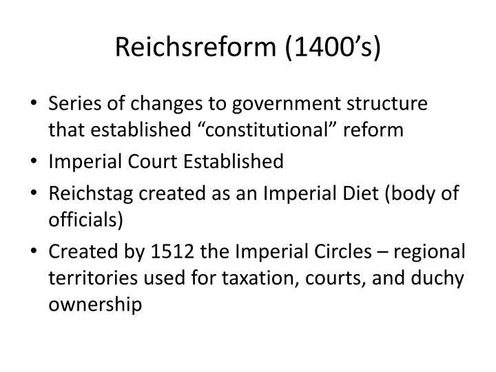 Reichsreform (1400's)