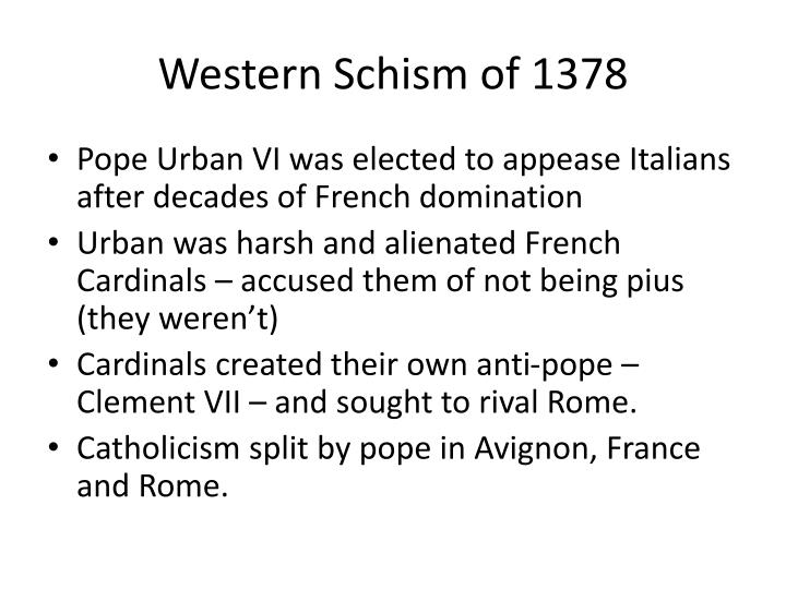 Western Schism of 1378