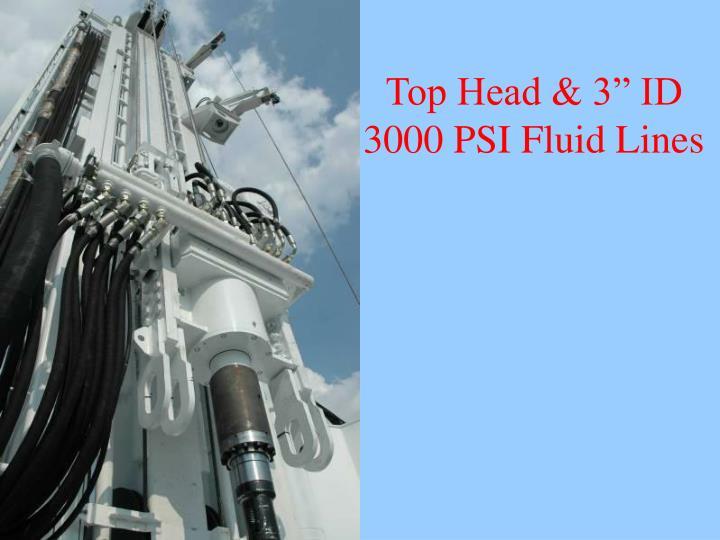 "Top Head & 3"" ID 3000 PSI Fluid Lines"