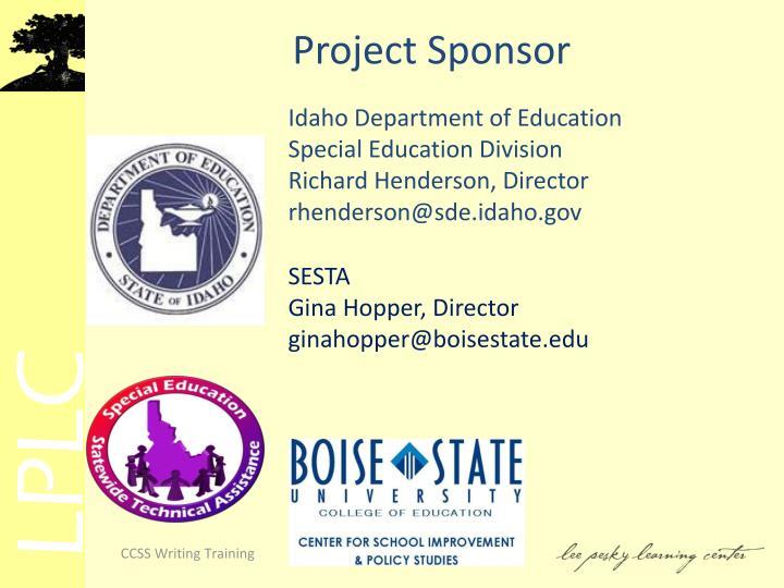 Project Sponsor