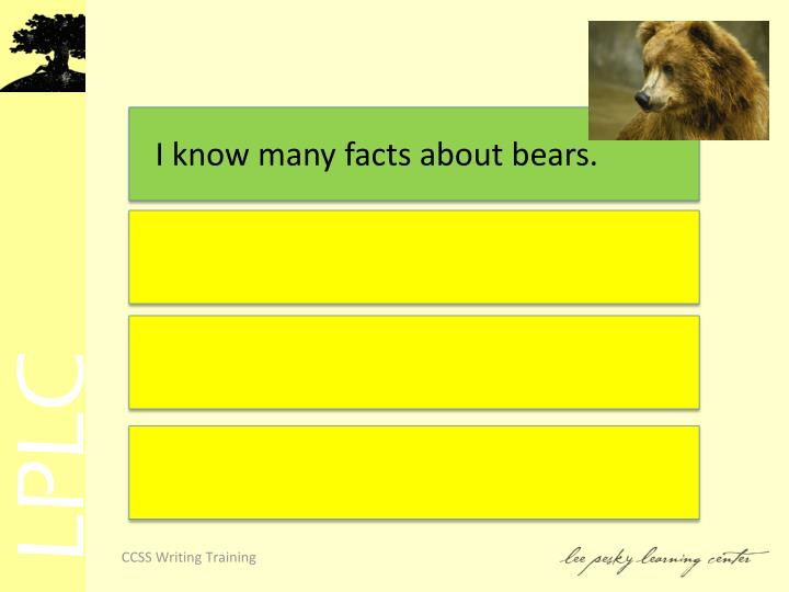 I know many facts about bears.
