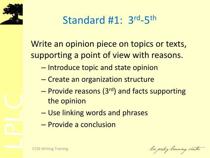 Standard #1:  3
