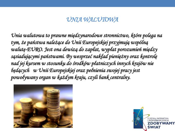 Unia walutowa