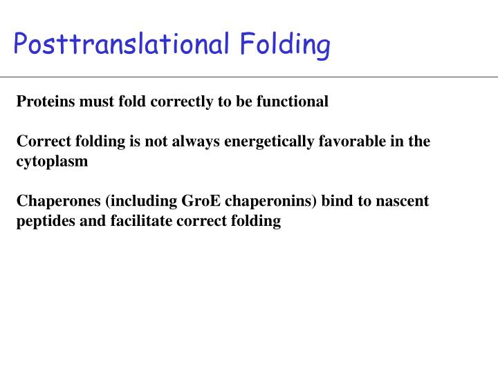 Posttranslational Folding