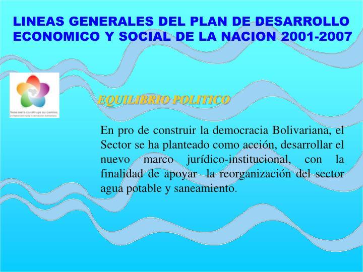 LINEAS GENERALES DEL PLAN DE DESARROLLO
