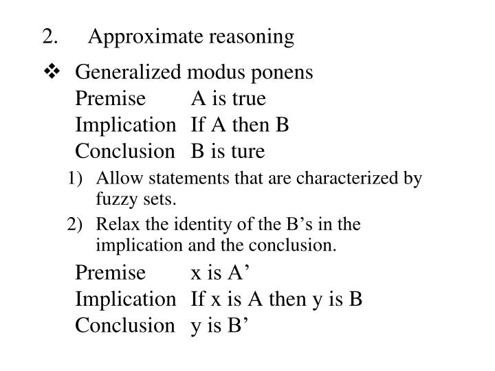 Approximate reasoning