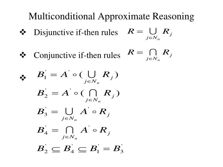 Multiconditional Approximate Reasoning