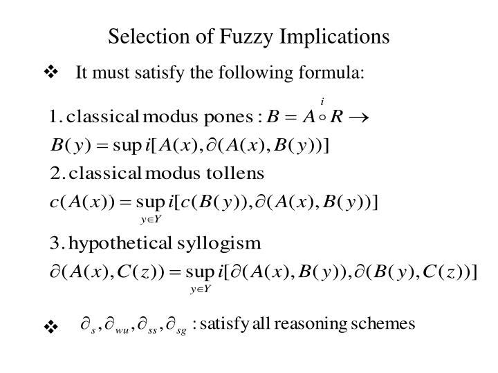 Selection of Fuzzy Implications