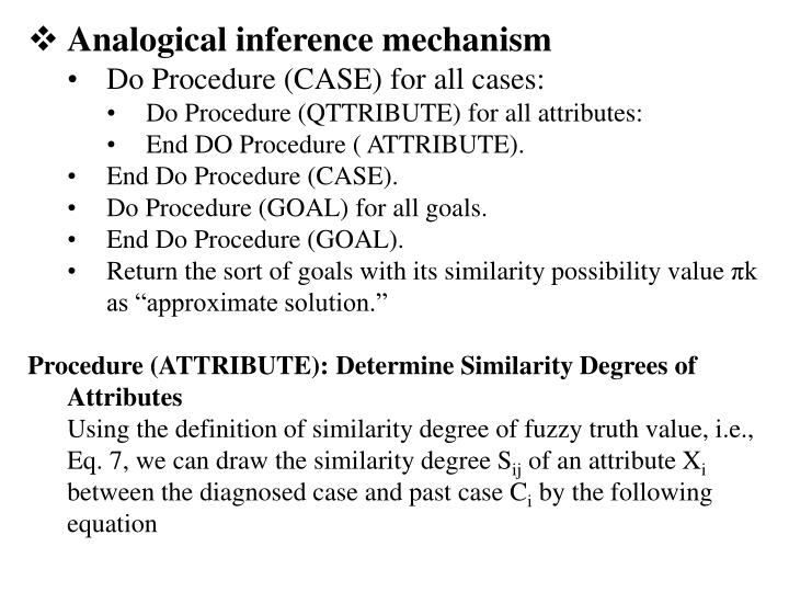 Analogical inference mechanism