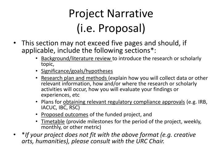 Project Narrative