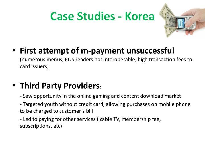 Case Studies - Korea