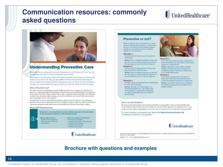 Communication resources: commonly asked questions