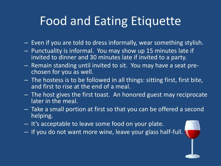 Food and Eating Etiquette