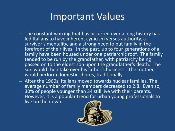 Important Values