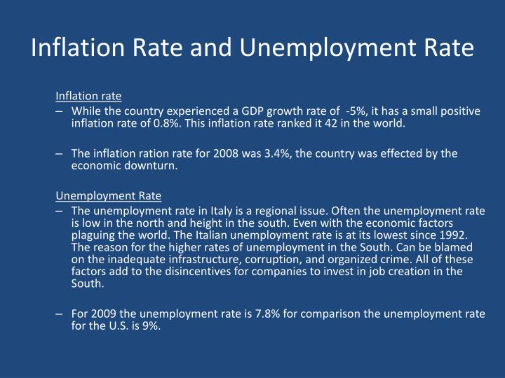 Inflation Rate and Unemployment Rate