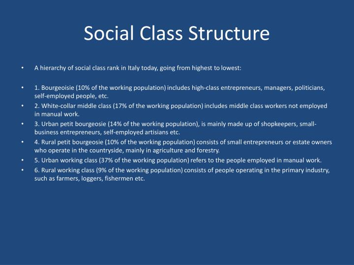 Social Class Structure