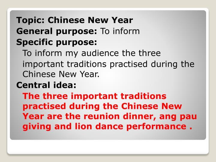 Topic: Chinese New Year