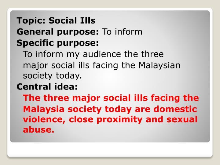 Topic: Social Ills