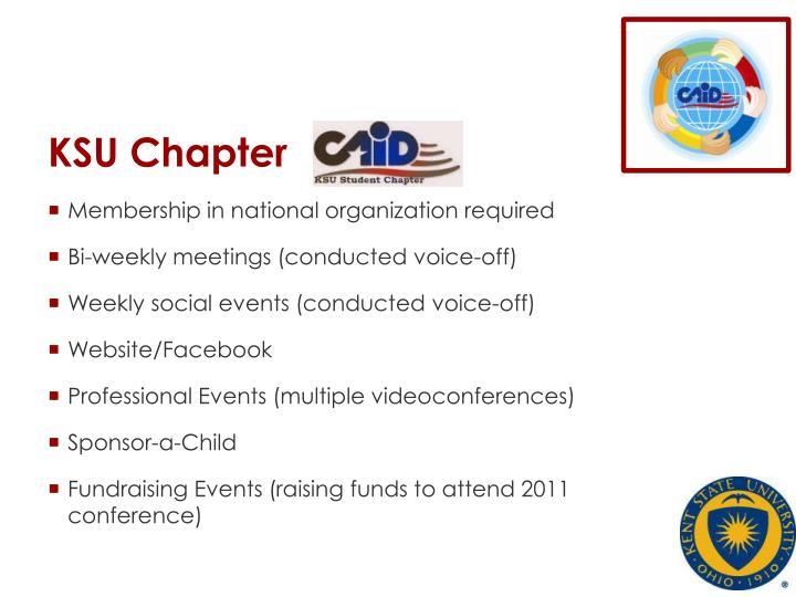 KSU Chapter