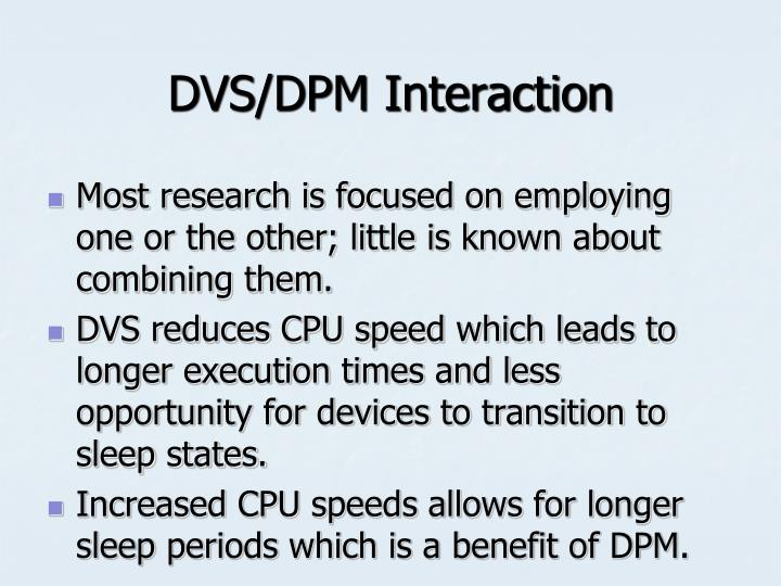 DVS/DPM Interaction