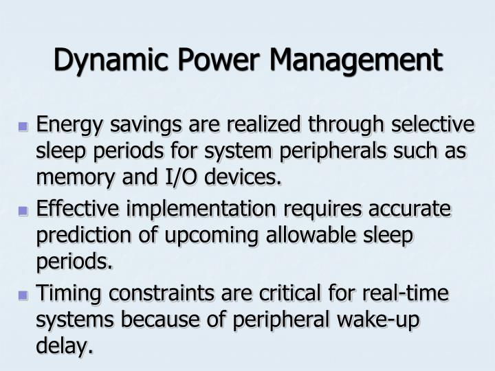 Dynamic Power Management