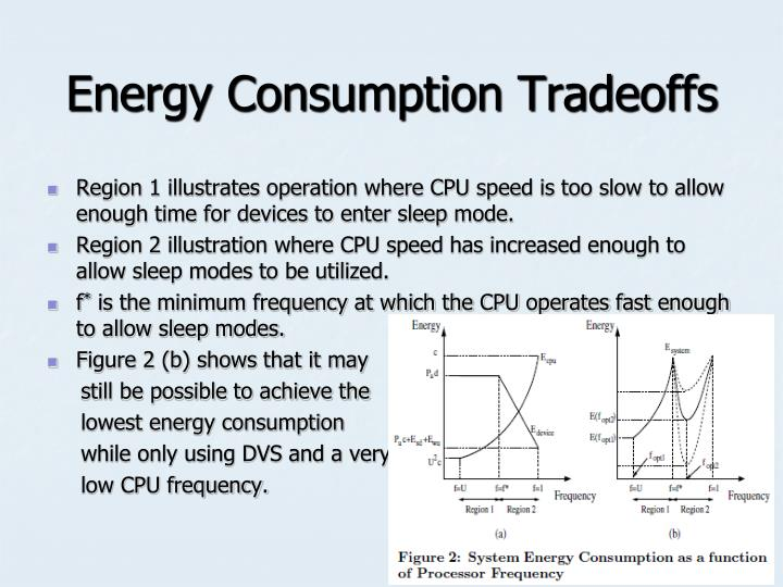 Energy Consumption Tradeoffs