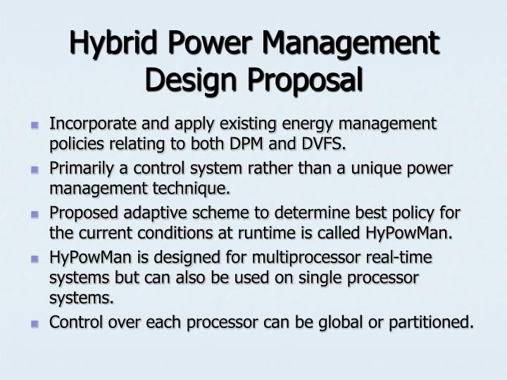 Hybrid Power Management Design Proposal