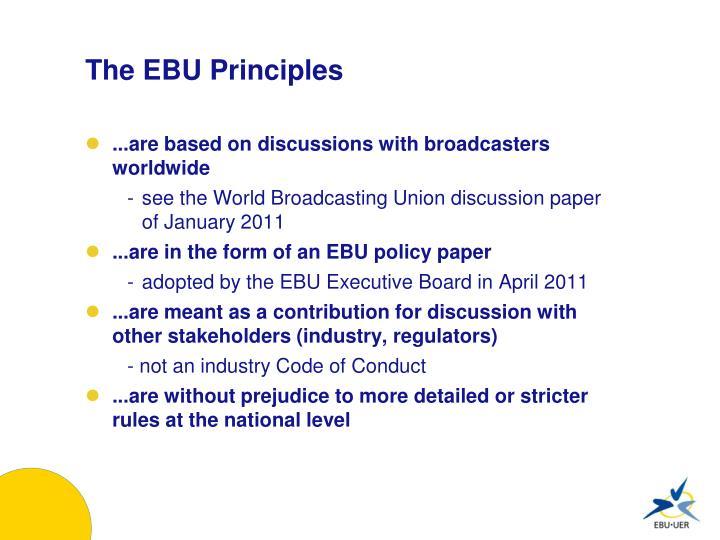 The EBU Principles