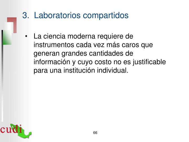 3.  Laboratorios compartidos