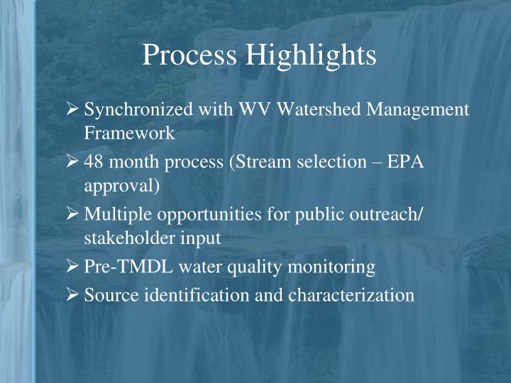 Process Highlights