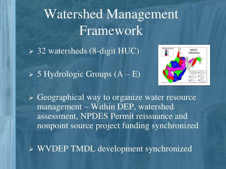 Watershed Management Framework