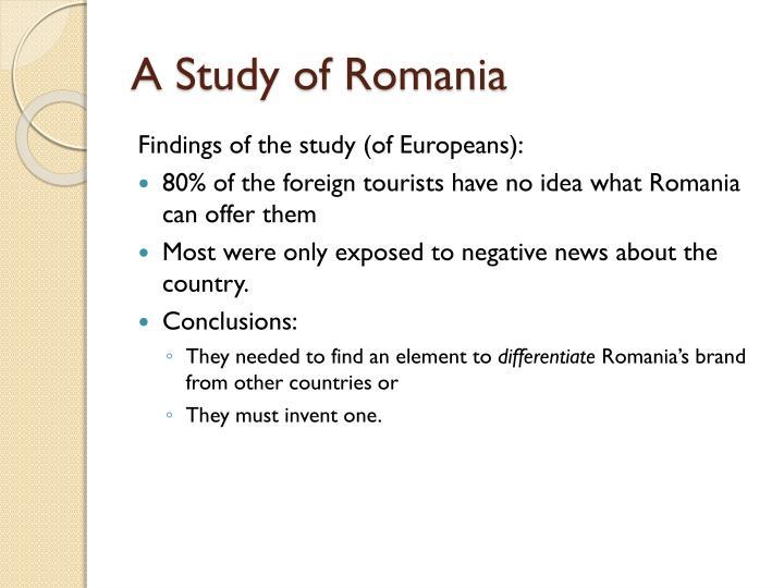 A Study of Romania