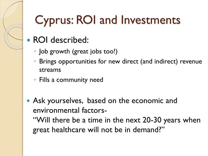 Cyprus: ROI and Investments