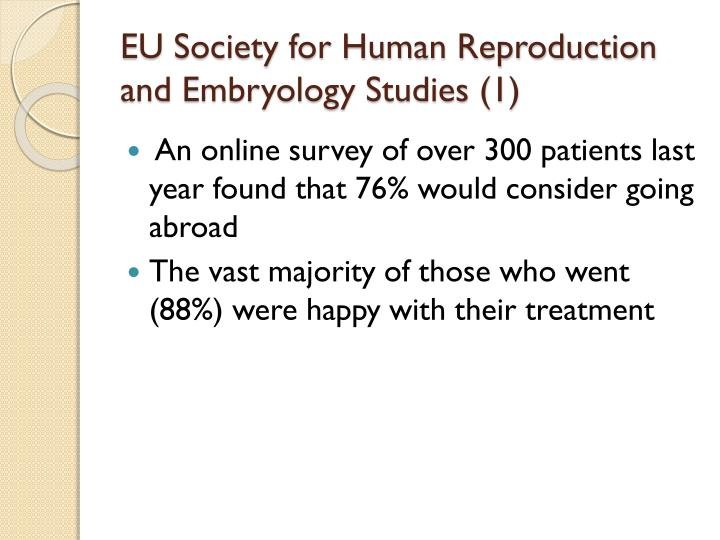 EU Society for Human Reproduction and Embryology Studies (1)