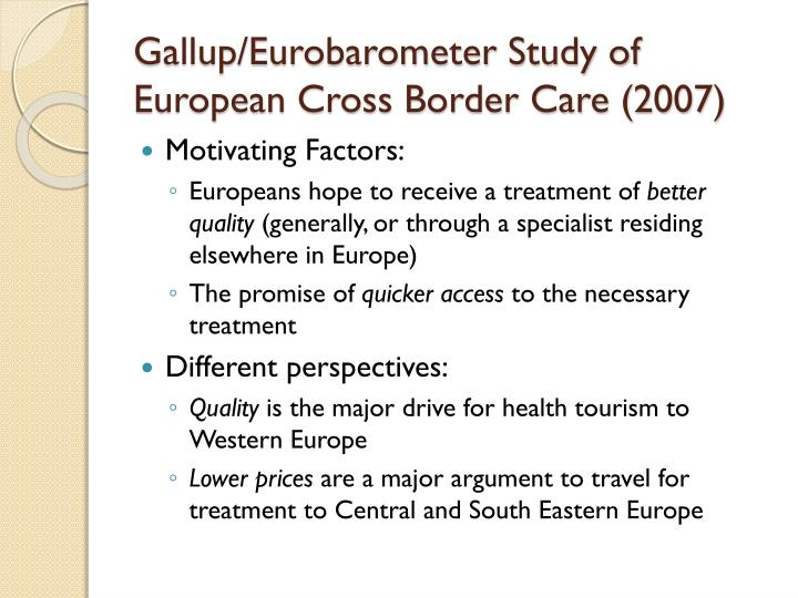 Gallup/Eurobarometer Study of European Cross Border Care (2007)