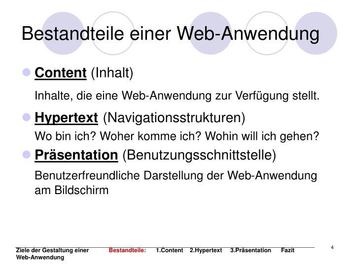 Bestandteile einer Web-Anwendung