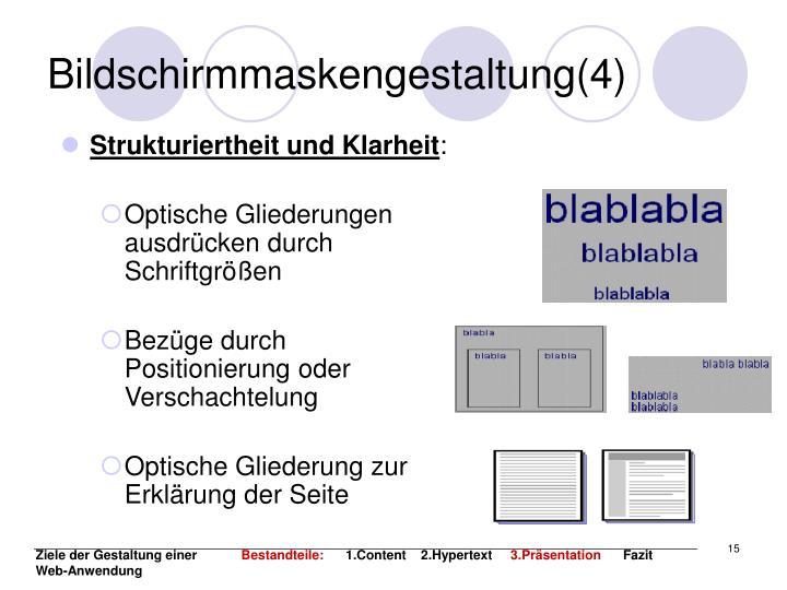 Bildschirmmaskengestaltung(4)
