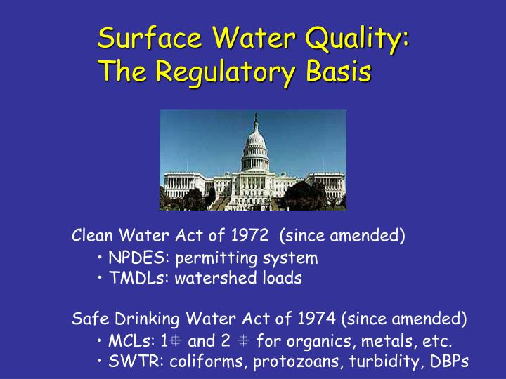 Surface Water Quality: