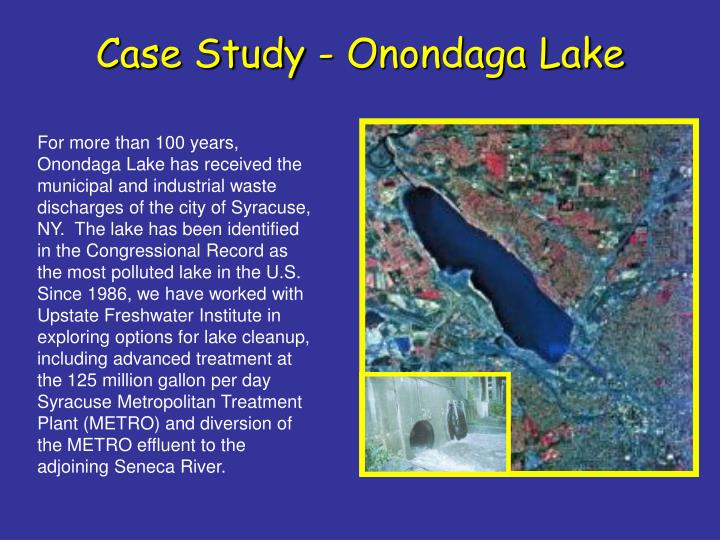 Case Study - Onondaga Lake