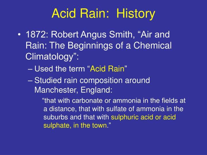 Acid Rain:  History