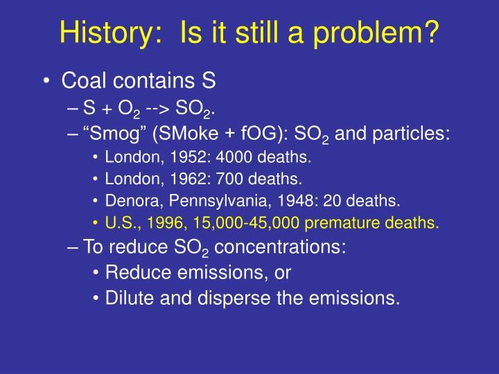 History:  Is it still a problem?