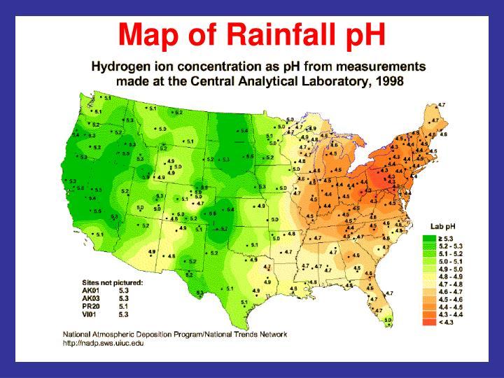 Map of Rainfall pH