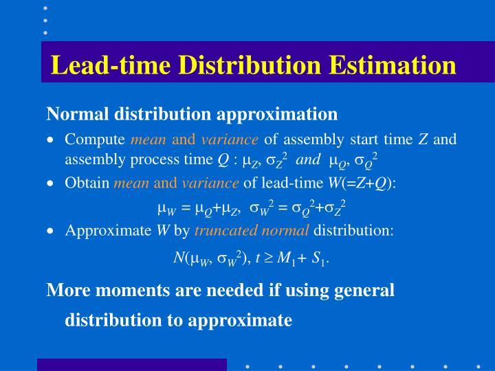 Lead-time Distribution Estimation