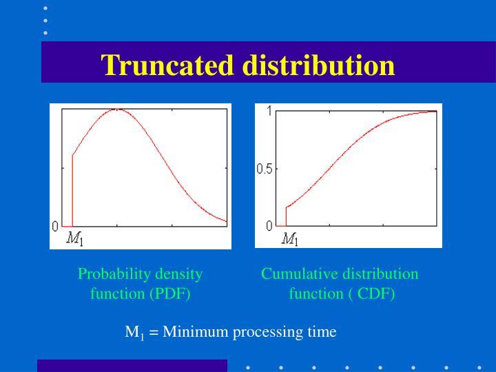 Truncated distribution