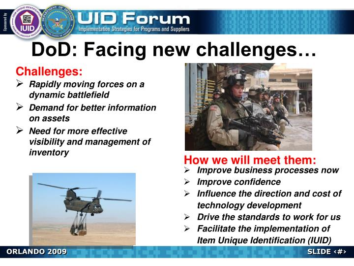 DoD: Facing new challenges…