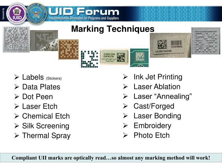Marking Techniques