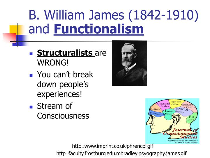 B. William James (1842-1910) and