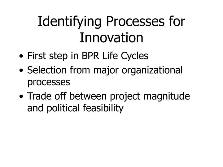 Identifying Processes for Innovation
